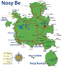 Carte de Nosy Be